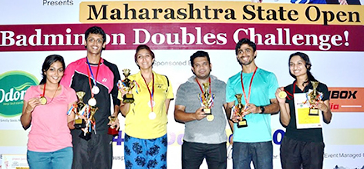 Men's doubles crown for Abhidnya-Prasad