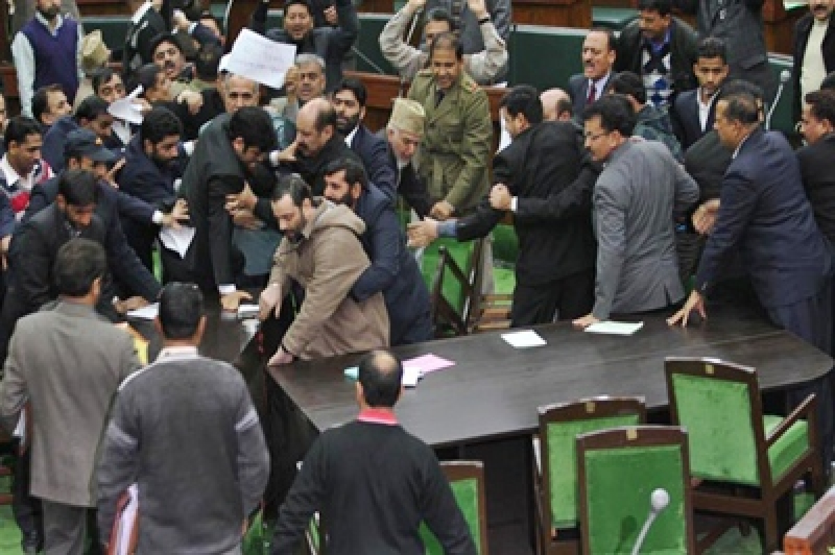 Jammu and Kashmir assembly adjourned amid ruckus