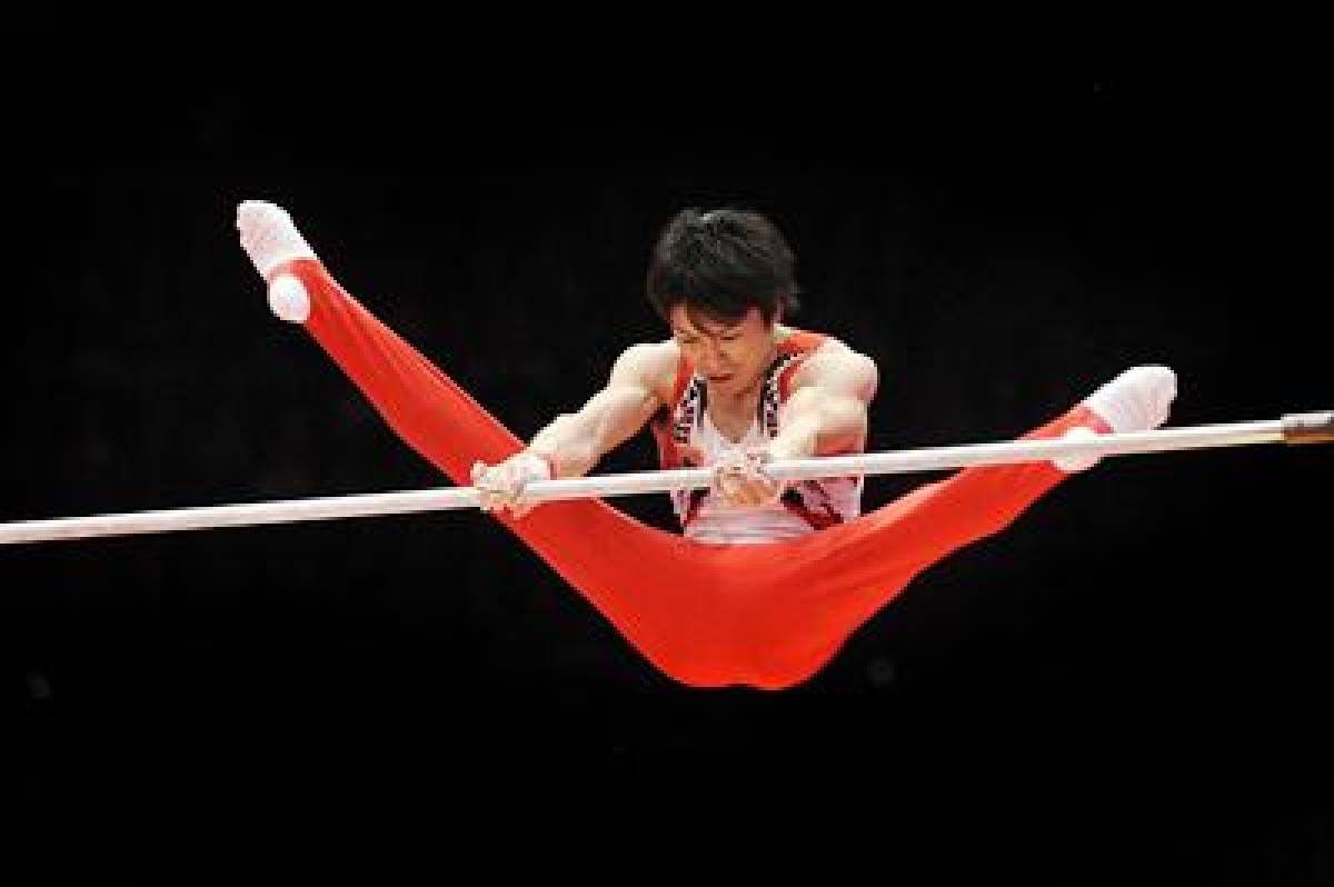 Japanese gymnast Uchimura wins historic sixth World title