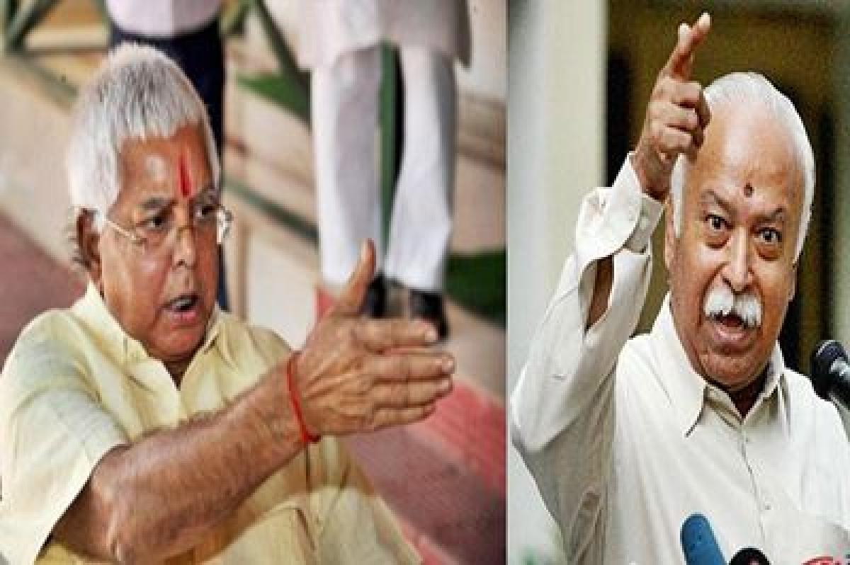 "Bhagwat's quota remark ""sealed"" BJP's fate in Bihar: Lalu Prasad Yadav"