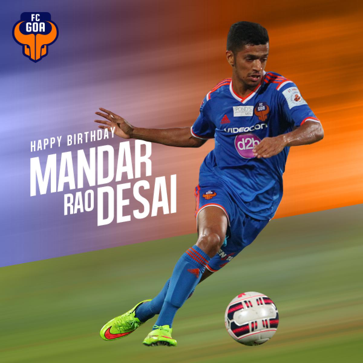 """Mandar Rao Dessai named as FC Goa's """"Gaur of the match"""""""