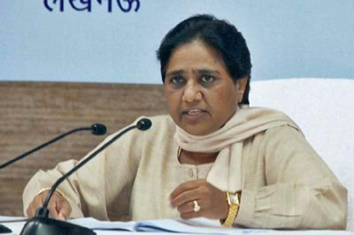 Mayawati shown as Goddess Kali in poster, BJP cries foul