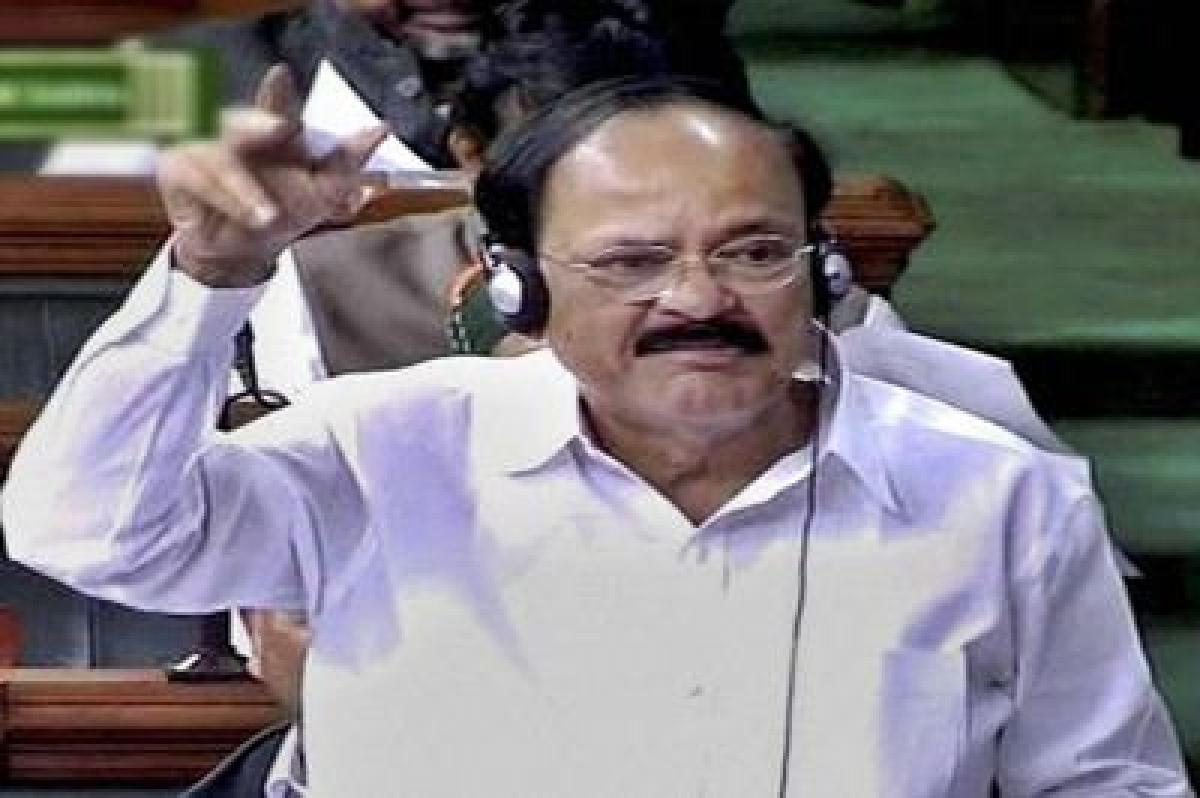 Congress adopting policy of 'spit and run' in Parliament : Venkaiah Naidu