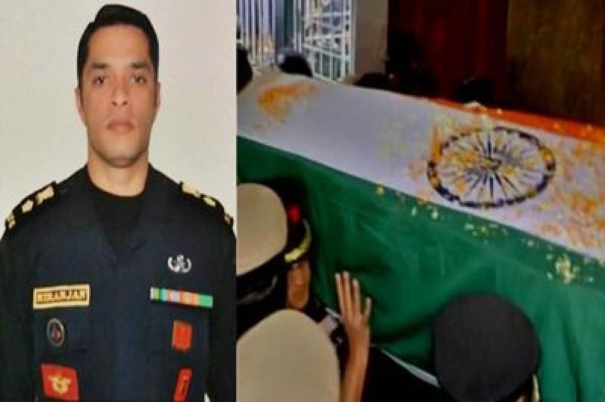 Lt Colonel Niranjan's body brought to Bengaluru