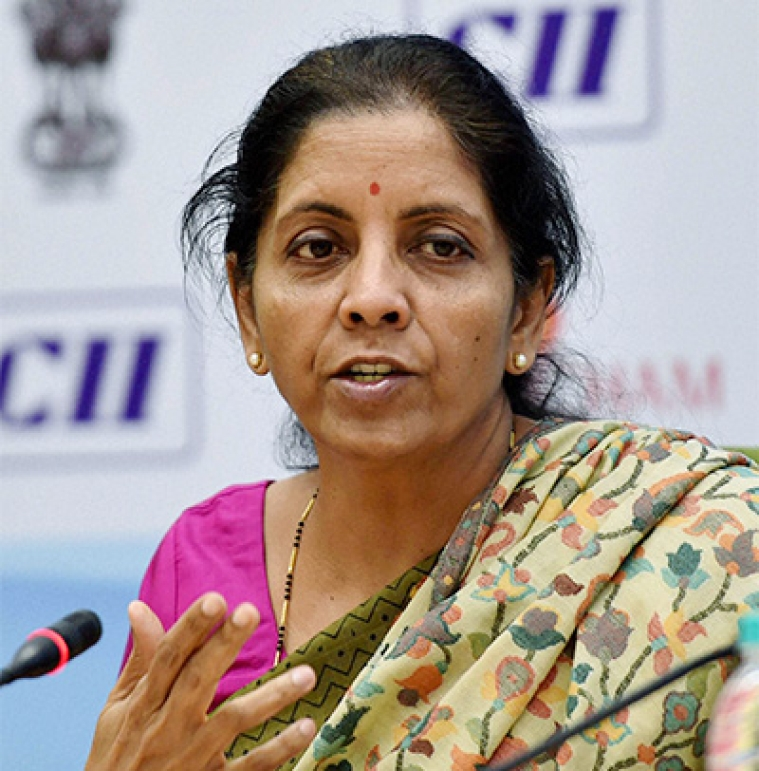 New Delhi: Minister of Commerce & Industry, Nirmala Sitharaman addresses a media interaction regarding the First Meeting of Council for Trade Development and Promotion in New Delhi on Friday.PTI Photo by Kamal Singh(PTI1_8_2016_000090B)