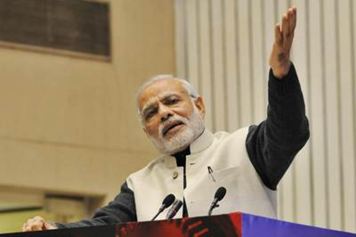 PM Modi unveils Subhash Chandra's autobiography