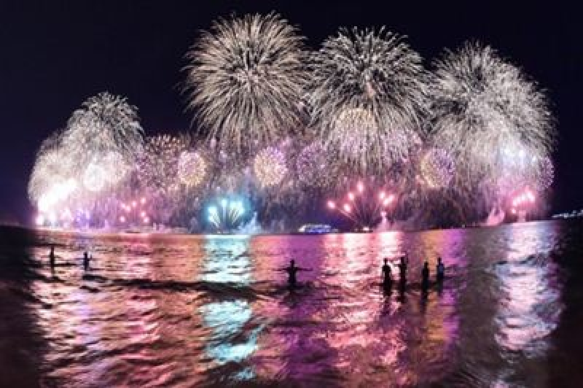 Rio celebrates start of Olympic year with special fireworks