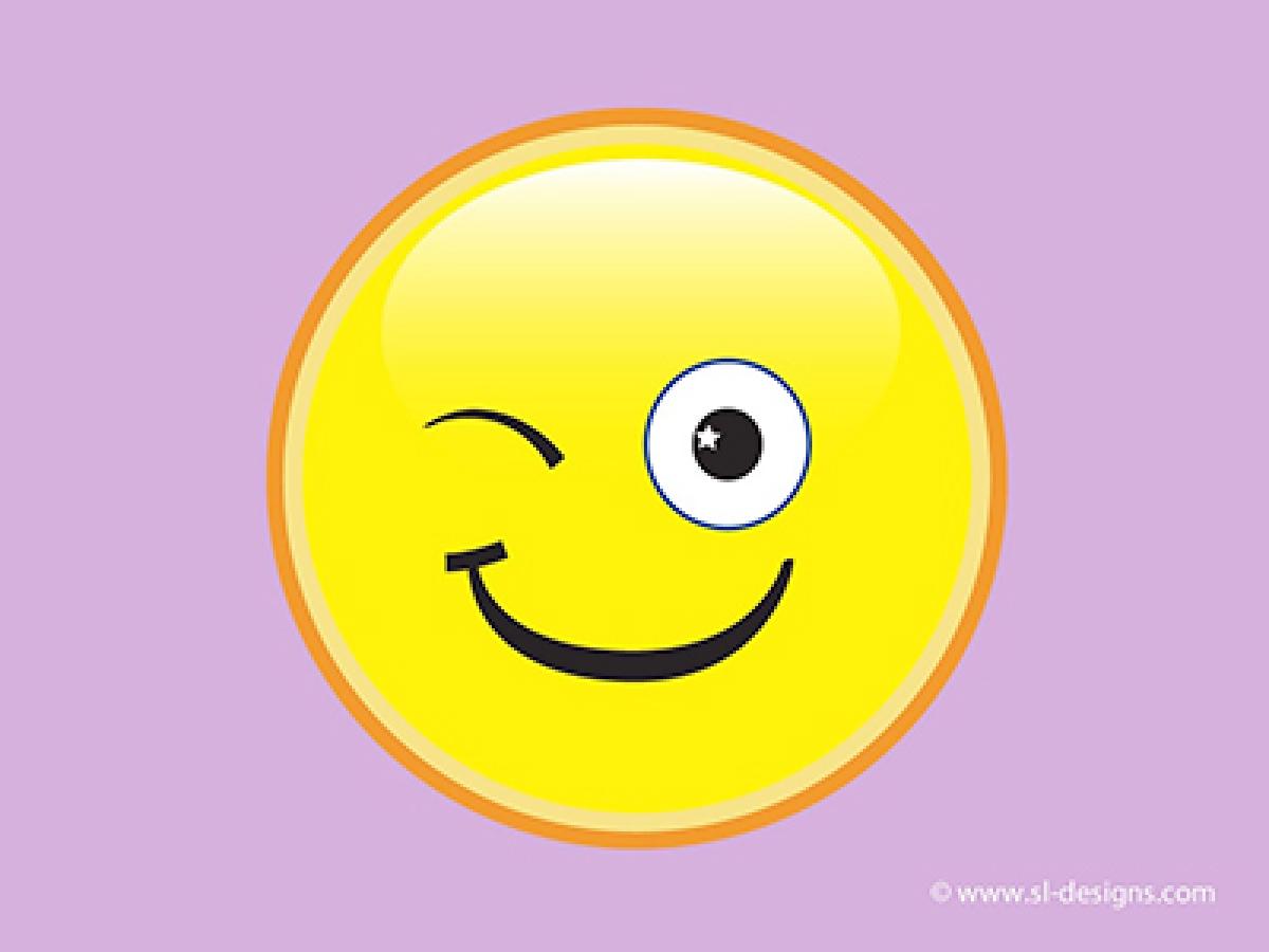 Winking face emoticon most  effective to convey sarcasm