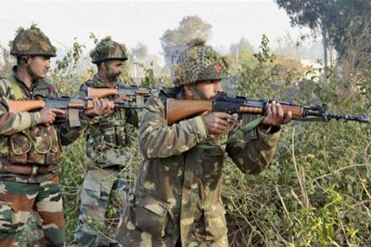 Pathankot: Army soldiers conduct a search operation in a forest area outside the Air Force Base in Pathankot on Sunday.PTI Photo(PTI1_3_2016_000163B)