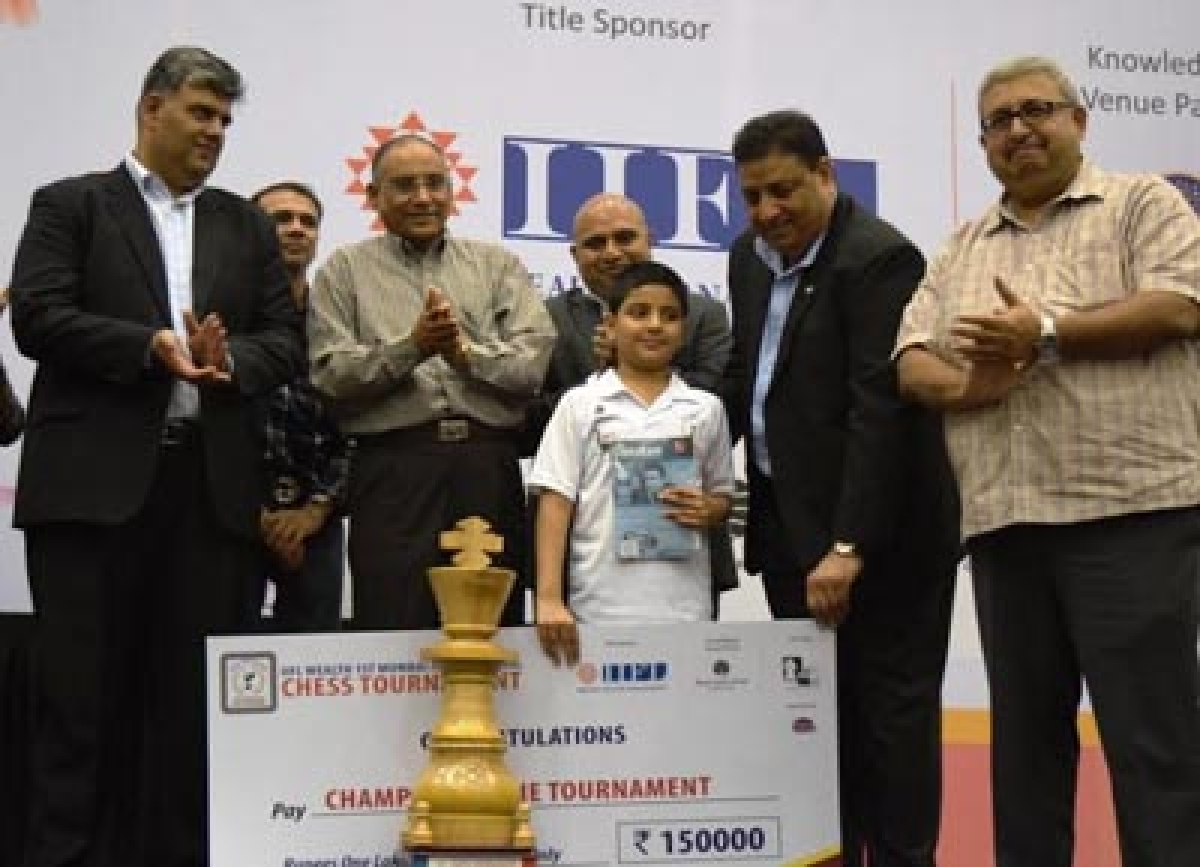 Raunak Sadhwani crowned Junior champion
