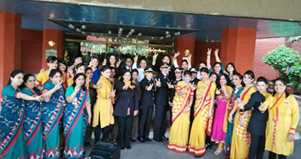 Air India operates 'world's  longest all-women flight'