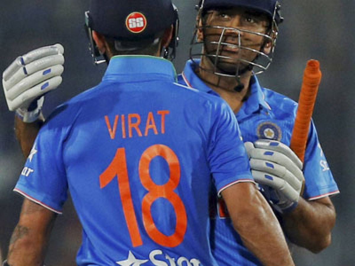 Dhaka  : India's captain Mahendra Dhoni, right, and Virat Kohli celebrate after winning the Asia Cup Twenty20 international cricket final match against Bangladesh in Dhaka, Bangladesh, Sunday, March 6, 2016. AP/PTI(AP3_7_2016_000014B)
