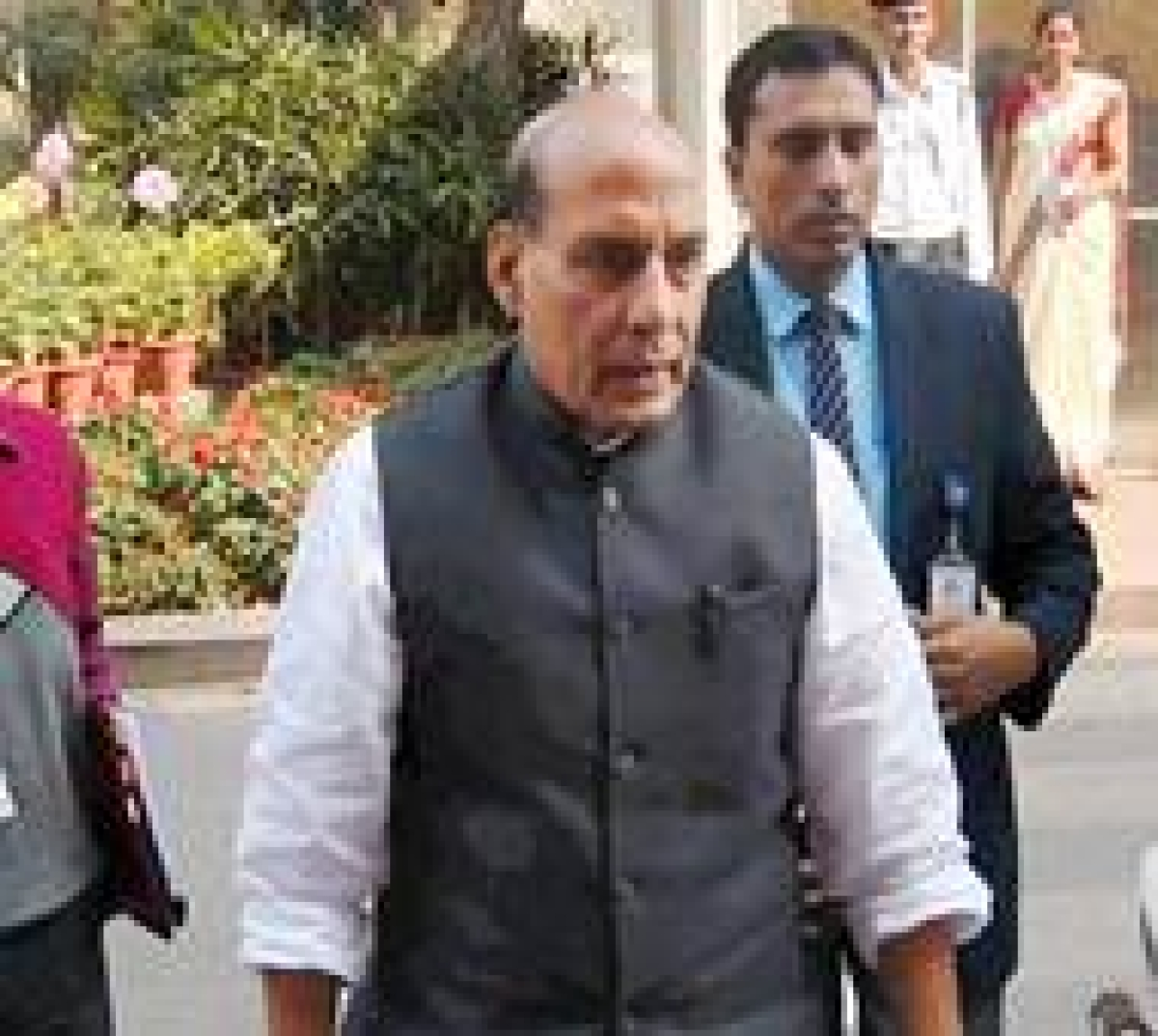 New Delhi: Home Minister Rajnath Singh during budget session of Parliament in New Delhi on Wednesday. PTI Photo by Shahbaz Khan(PTI3_2_2016_000097B)