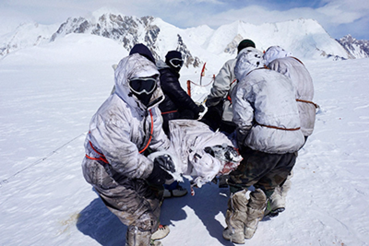 Porter falls into crevasse in Siachen, body found