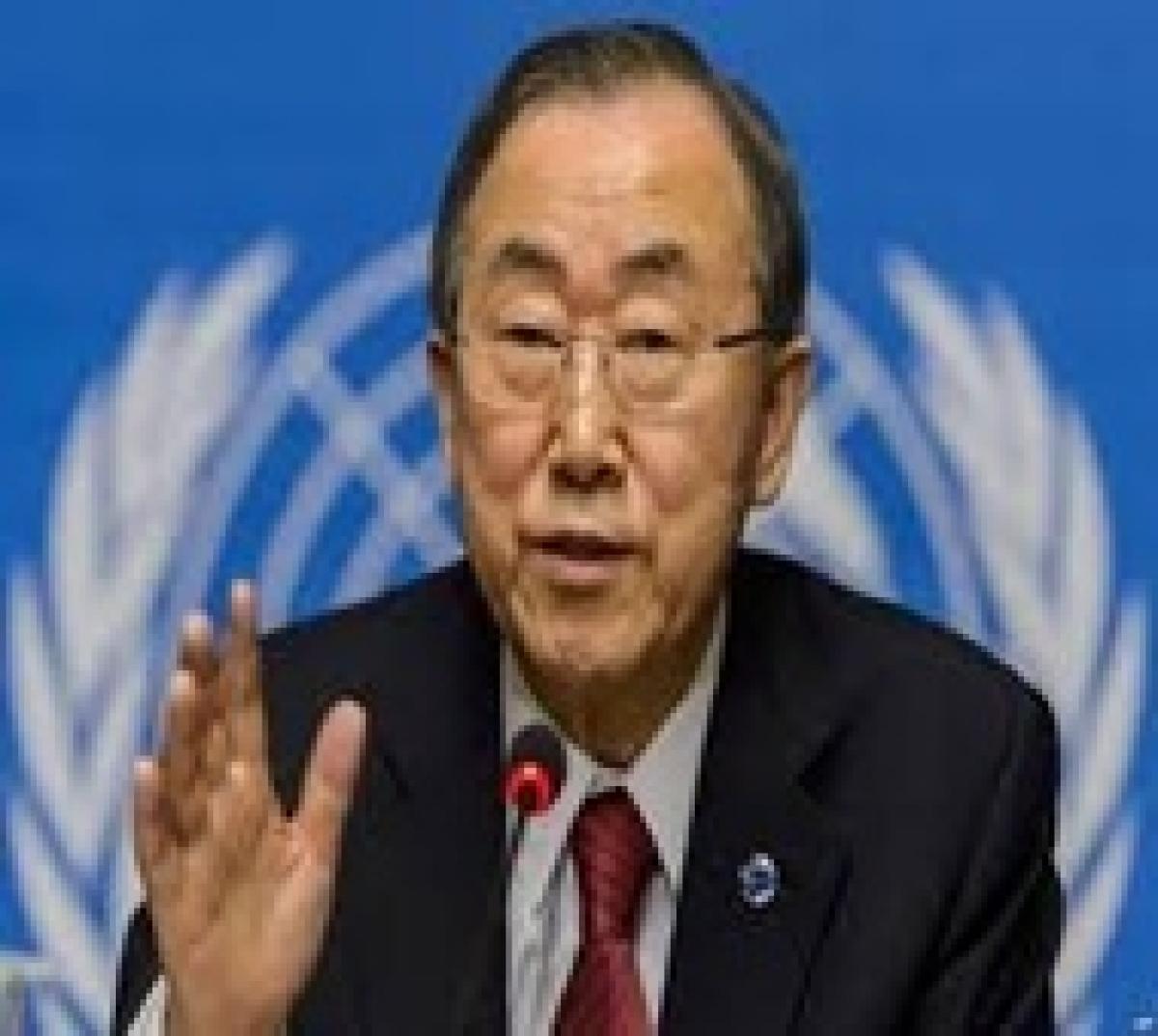 UN chief arrives in Beirut Syria talks to adjourn in Geneva