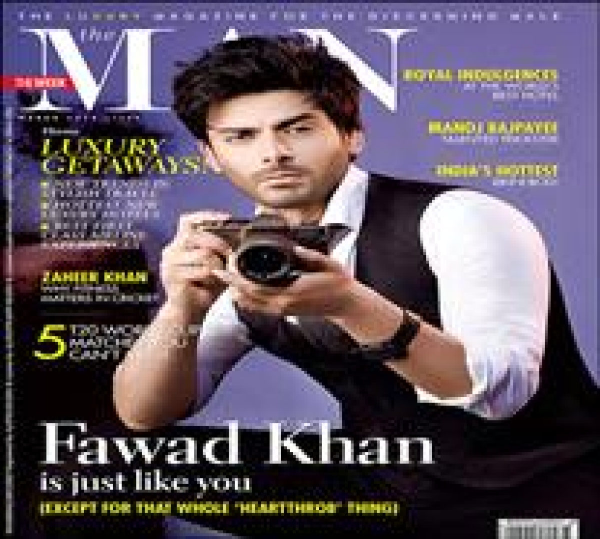 Fawad Khan on the cover of 'The Man'