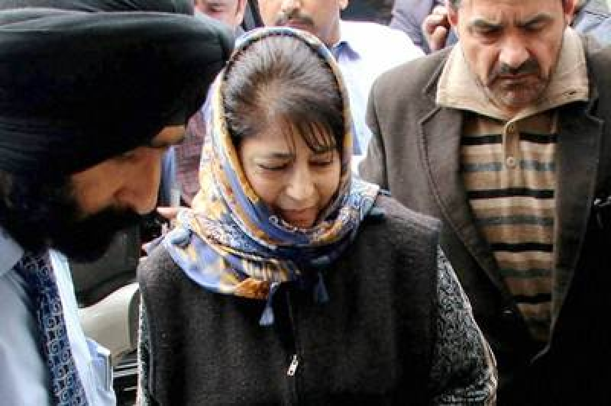 Mehbooba Mufti sworn in as J&K chief minister