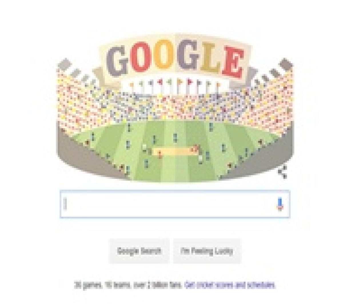 Google dedicates its doodle to T20 World Cup 2016