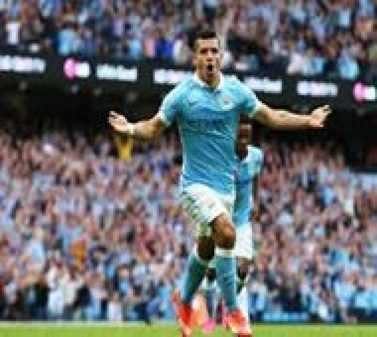 Aguero treble inspires Man City's 3-0 rout of Chelsea