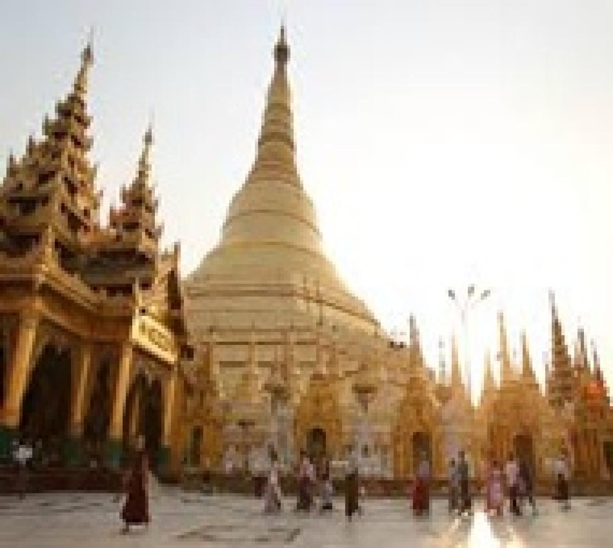 Pagodas damaged, but no casualties in Myanmar quake