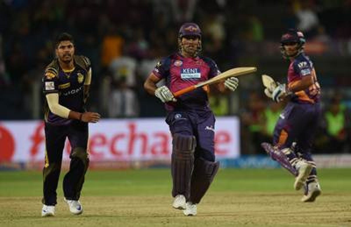 KKR pip Pune Supergiants by two wickets