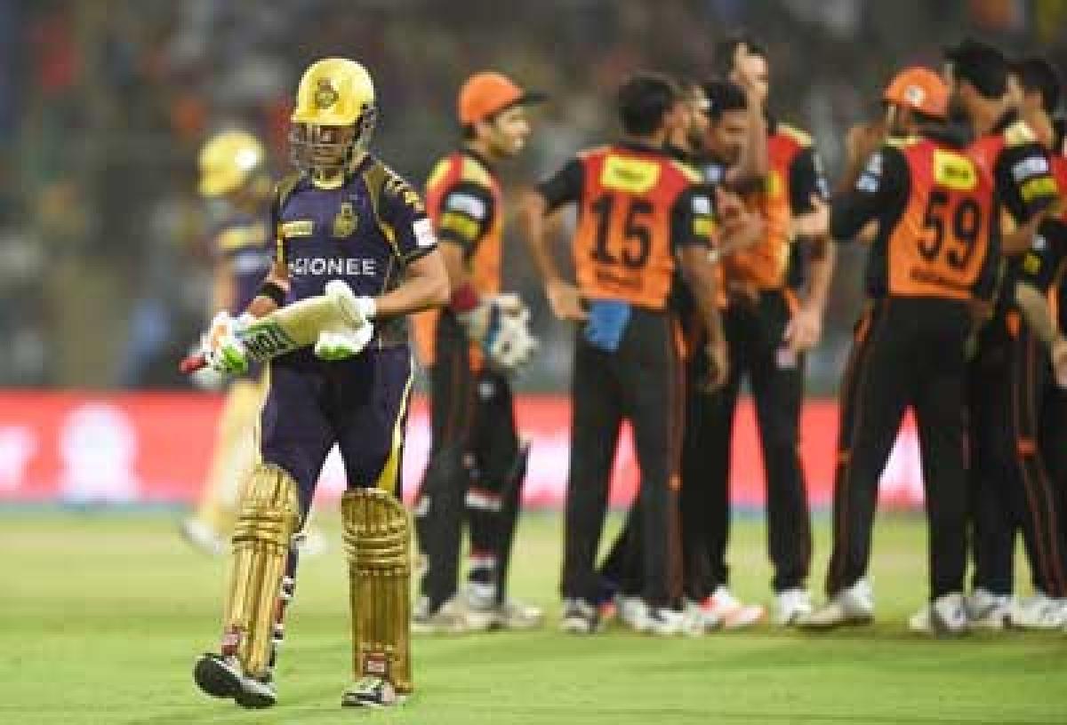 IPL 2016: Knight's ride come to halt; Sunrisers beat KKR by 22 runs