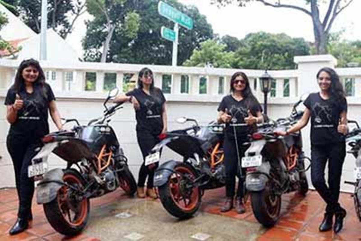 Indian biking queens raise awareness against foeticide