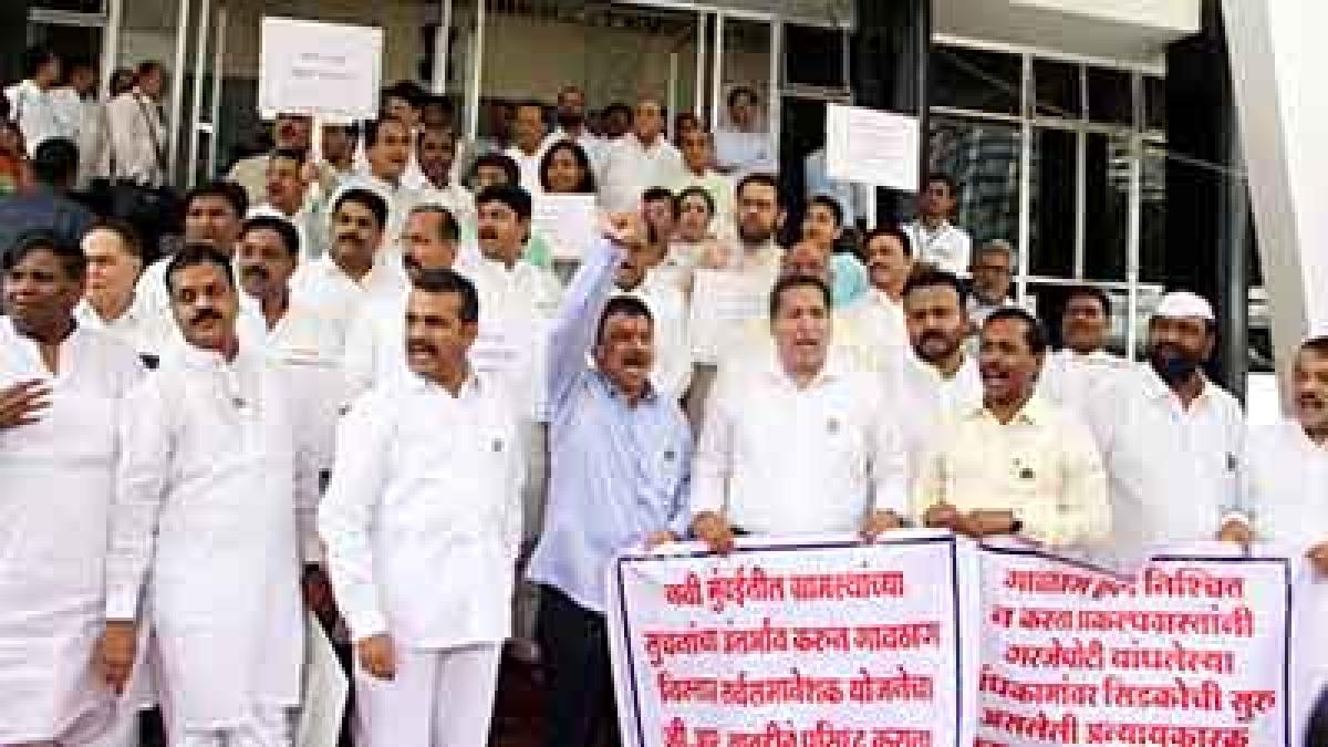 Maharashtra: Opposition MLAs demand complete farm loan waiver