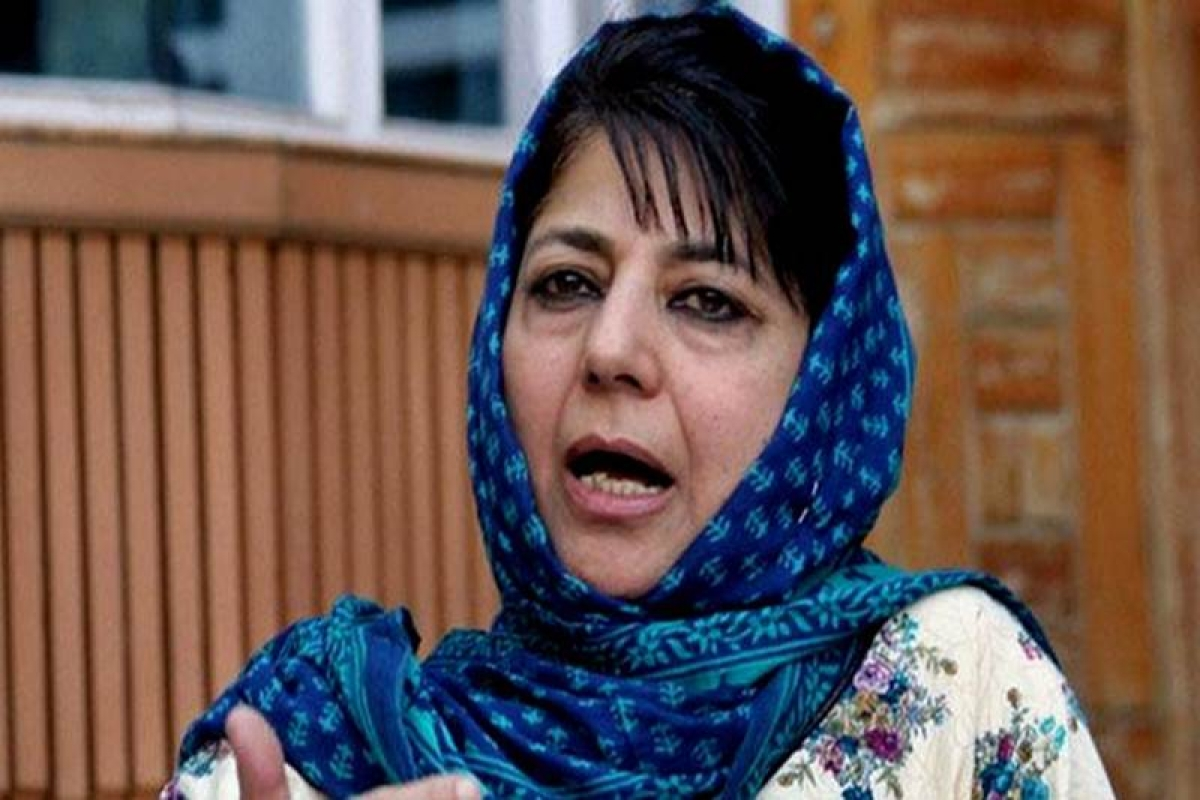 Mehbooba faces protest during visit to exam centre