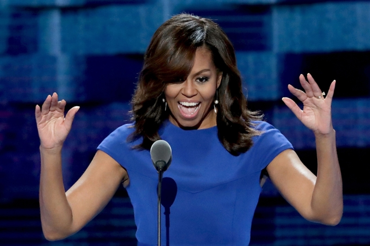 America 'needs an adult' in White House, says Michelle Obama