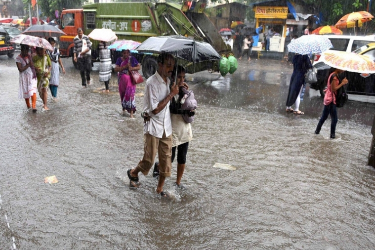 Mumbai: Water logging due to heavy rains in low-lying areas