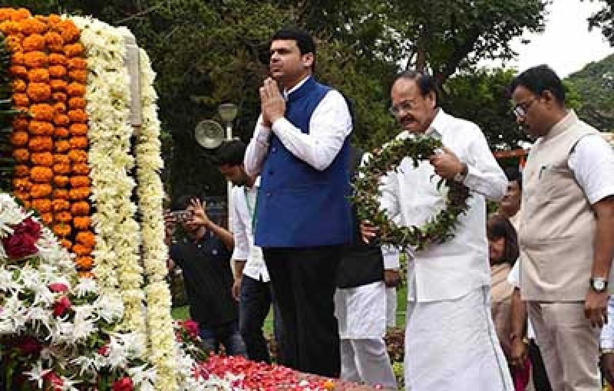 Turn our 'swaraj' into good governance: Venkaiah Naidu