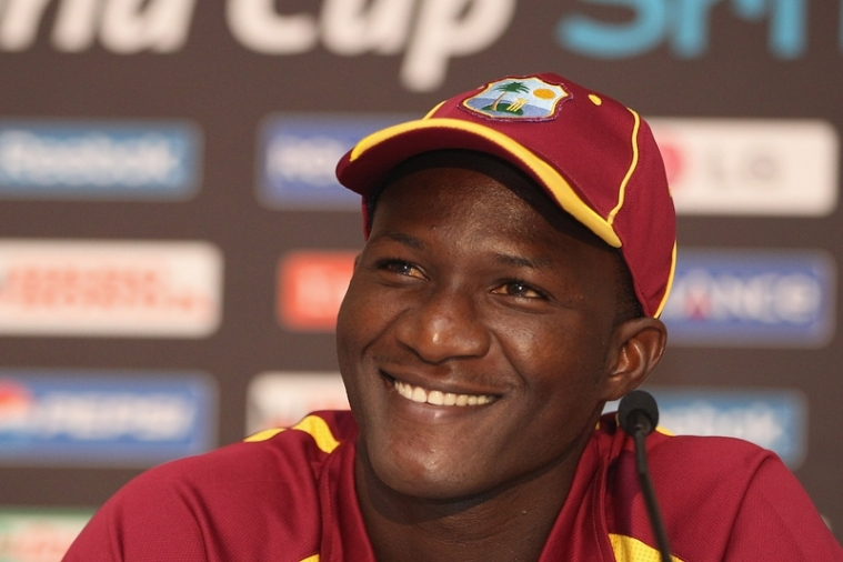 (Photo by Michael Steele/Getty Images) *** Local Caption *** Darren Sammy