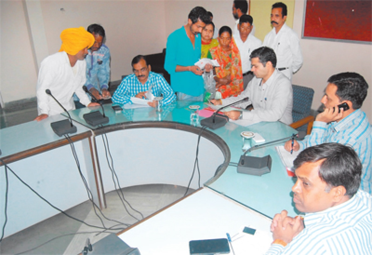 In-charge collector lends ears to public grievances