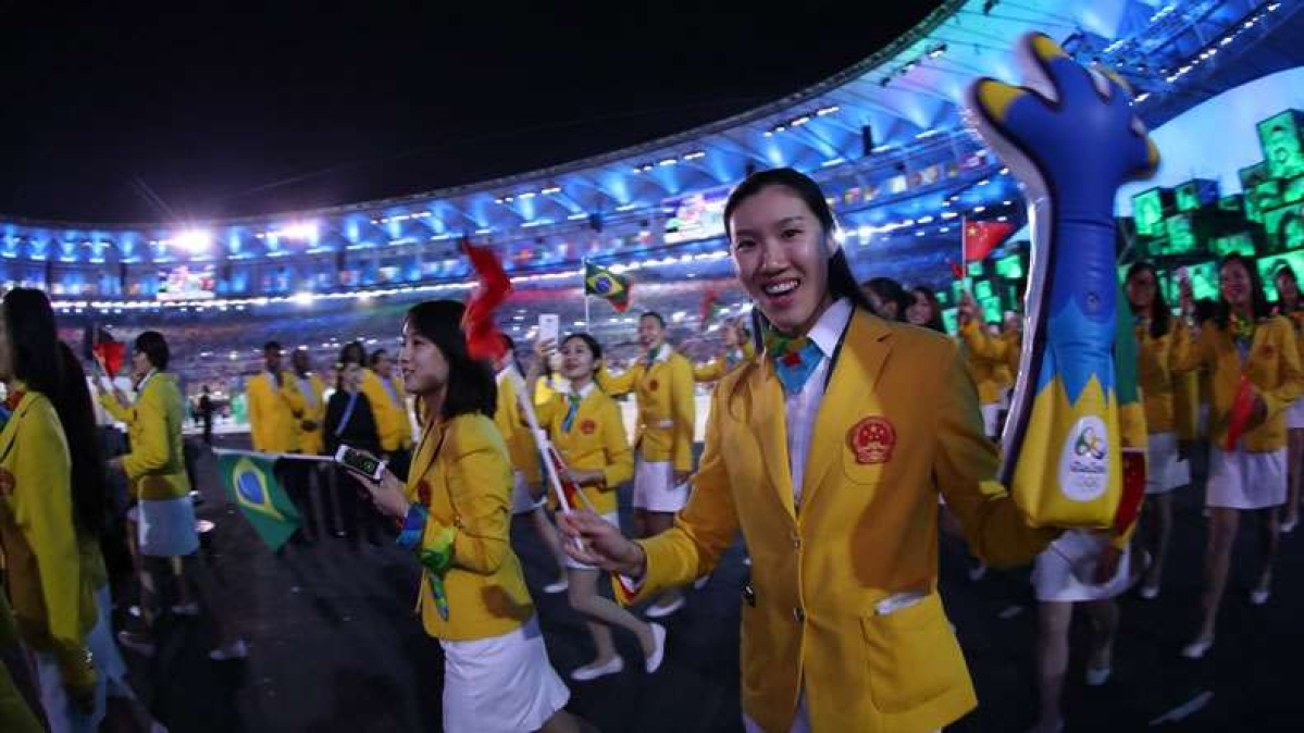 Female athletes stand out at Rio Olympic parade