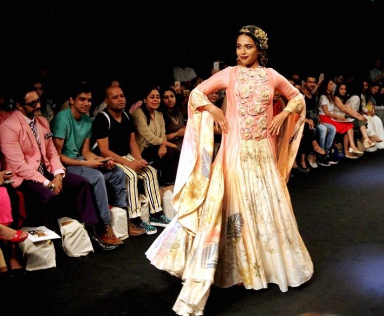 6c3dbfc6202915 Mumbai: Bollywood actress Swara Bhaskar at Lakme Fashion Week (LFW)  Winter/Festive