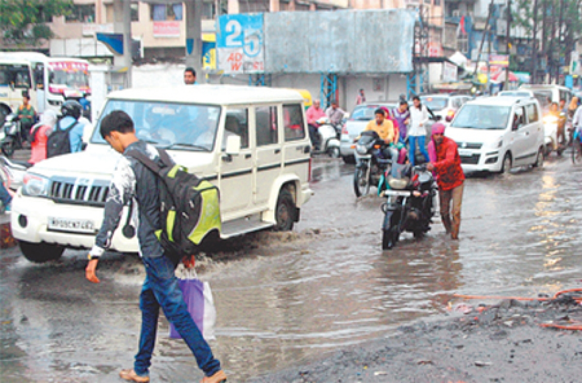 Madhumilan Square: Water logging  a permanent feature during rains