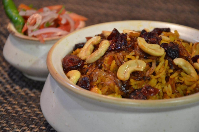 Berry Pulao- Dinshaw's Xpress Cafe