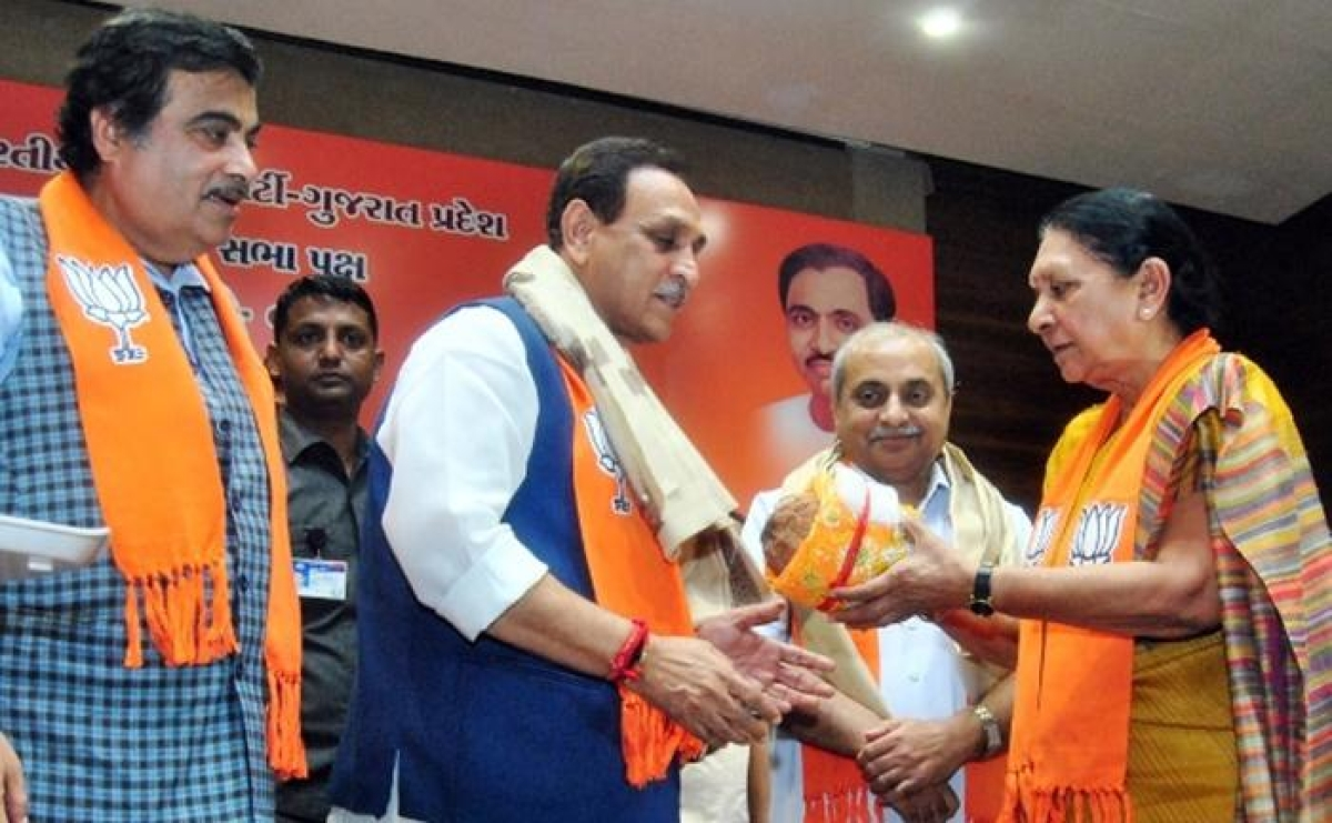 Vijay Rupani sworn in as Guj CM; 9 previous ministers dropped