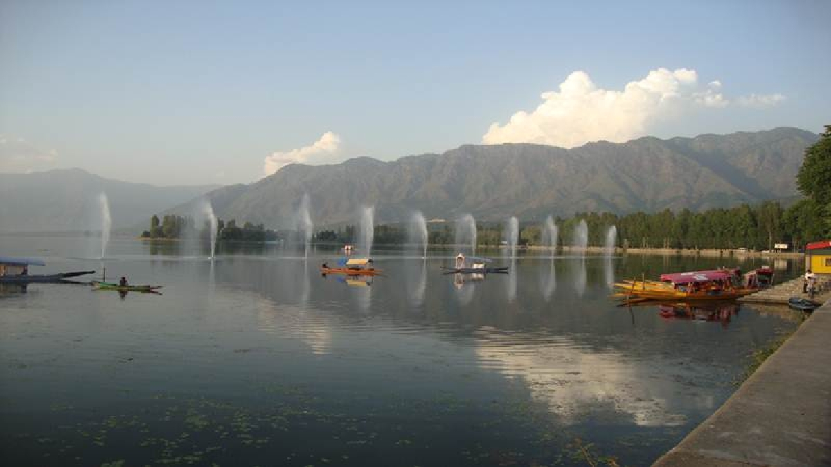 Cleaning of Dal Lake in full swing despite unrest in Kashmir