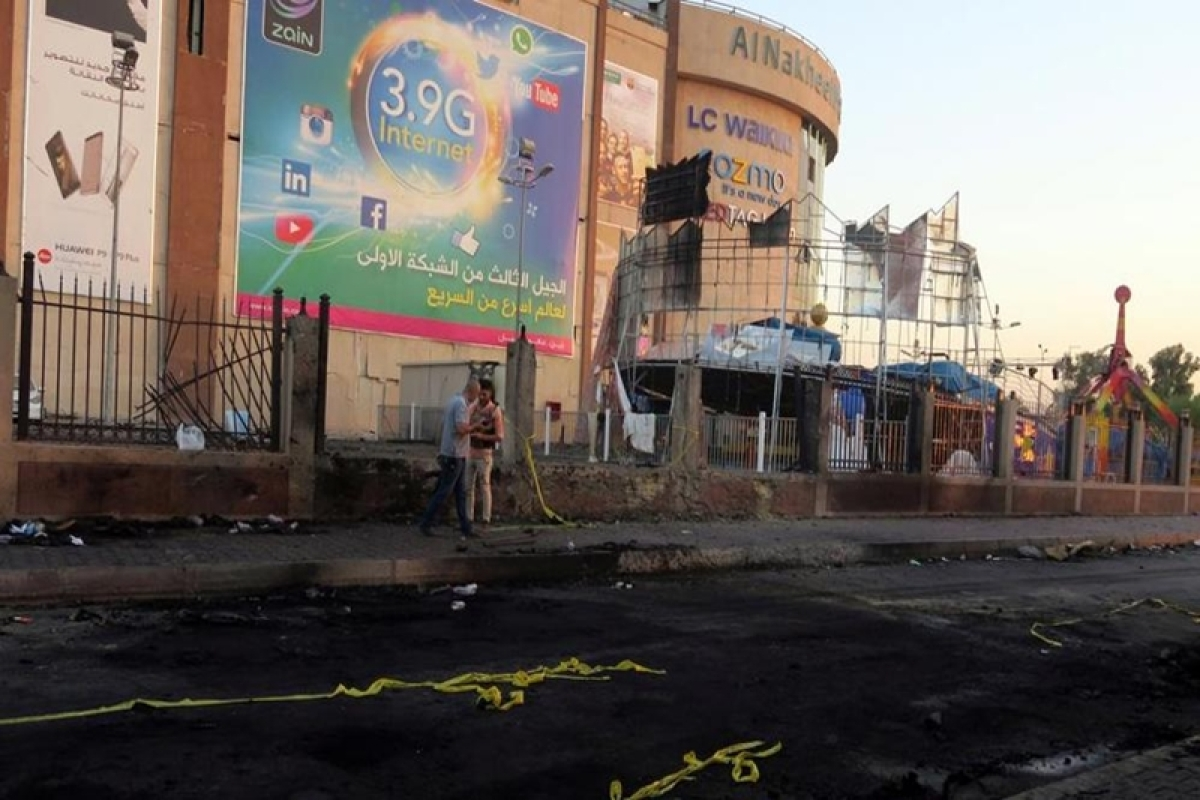 IS bombings near Baghdad mall kill at least 13 people