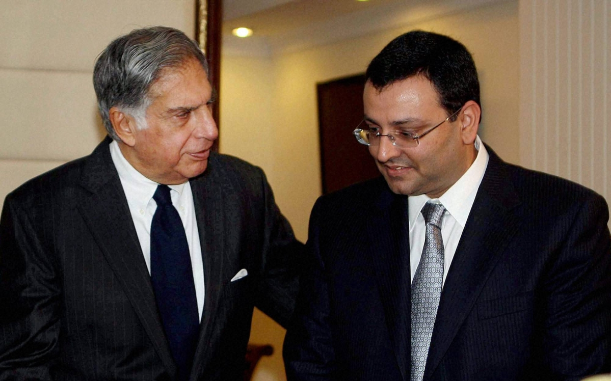 Ratan Tata (L) with Cyrus Mistry. File photo