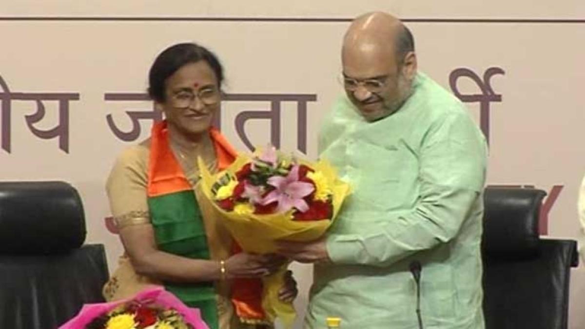 Uttar Pradesh Congress leader Rita Bahuguna Joshi joins BJP