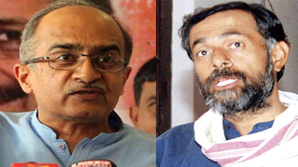 No chance of returning to AAP, say Yogendra Yadav, Prashant Bhushan