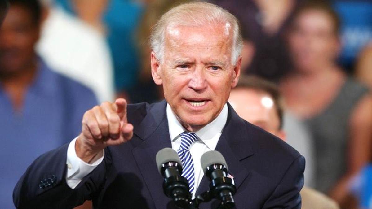 Joe Biden slams Trump, angry with politicians who demean women