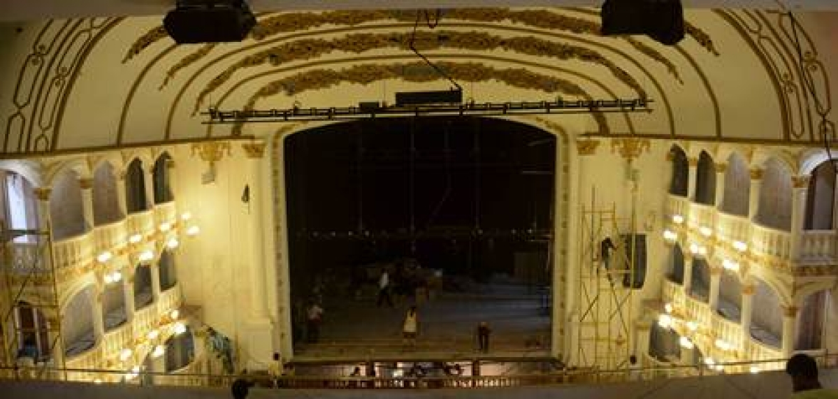 Mumbai: Opera House Theatre Renovation work for upcoming Mami Film Festival . Photo by BL SONI
