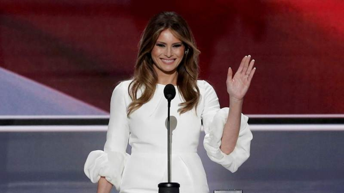 Melania Trump defends husband's 'boy talk'