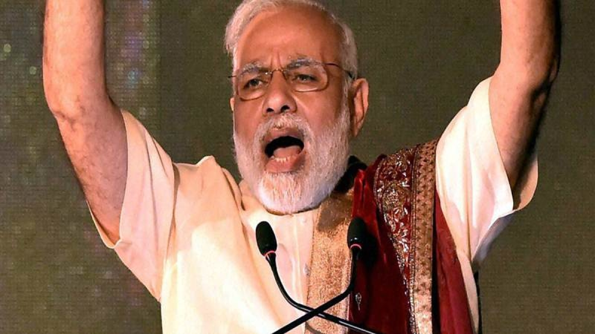 Narendra Modi attends Ramlila festivities, attacks Pak on terror