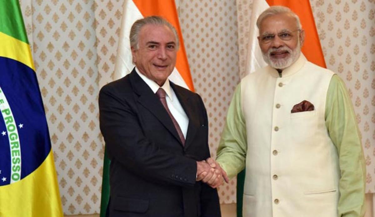 Narendra Modi thanks Brazilian President Michel Temer for support on NSG bid