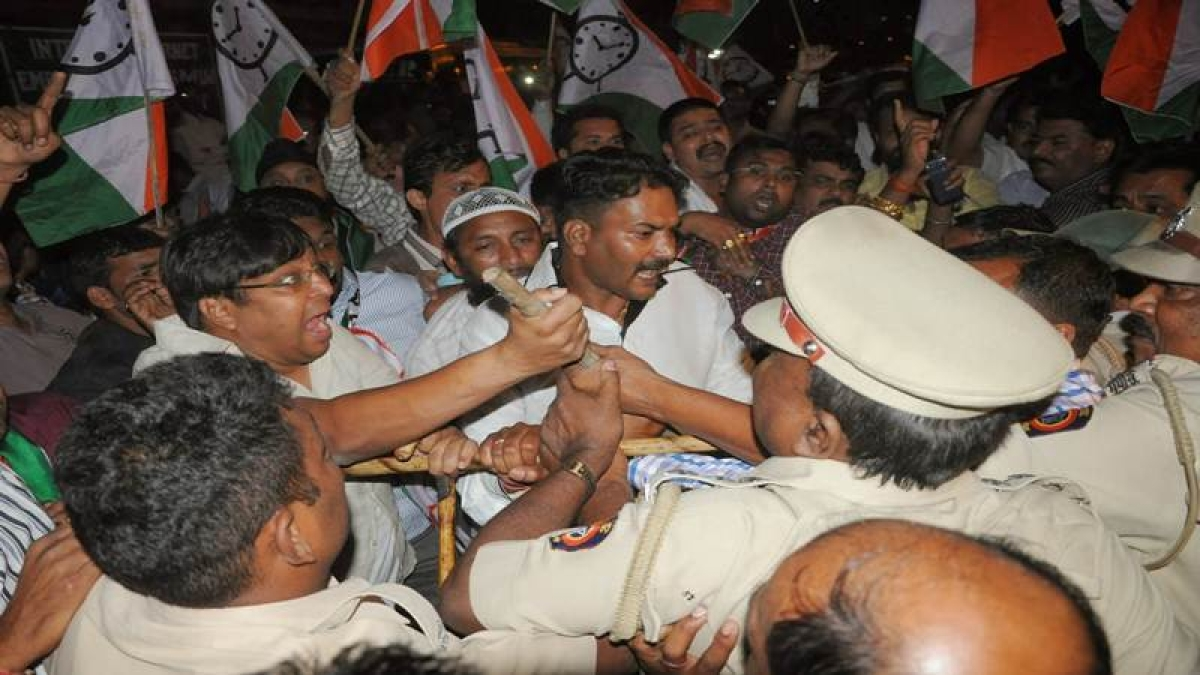 Four arrested after NCP supporters clash in Mumbai